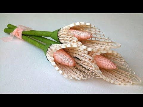 Quilling Flowers Callas Paper Bouquet