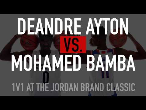 DeAndre Ayton vs. Mohamed Bamba One on One Post Drills at Jordan Brand Classic