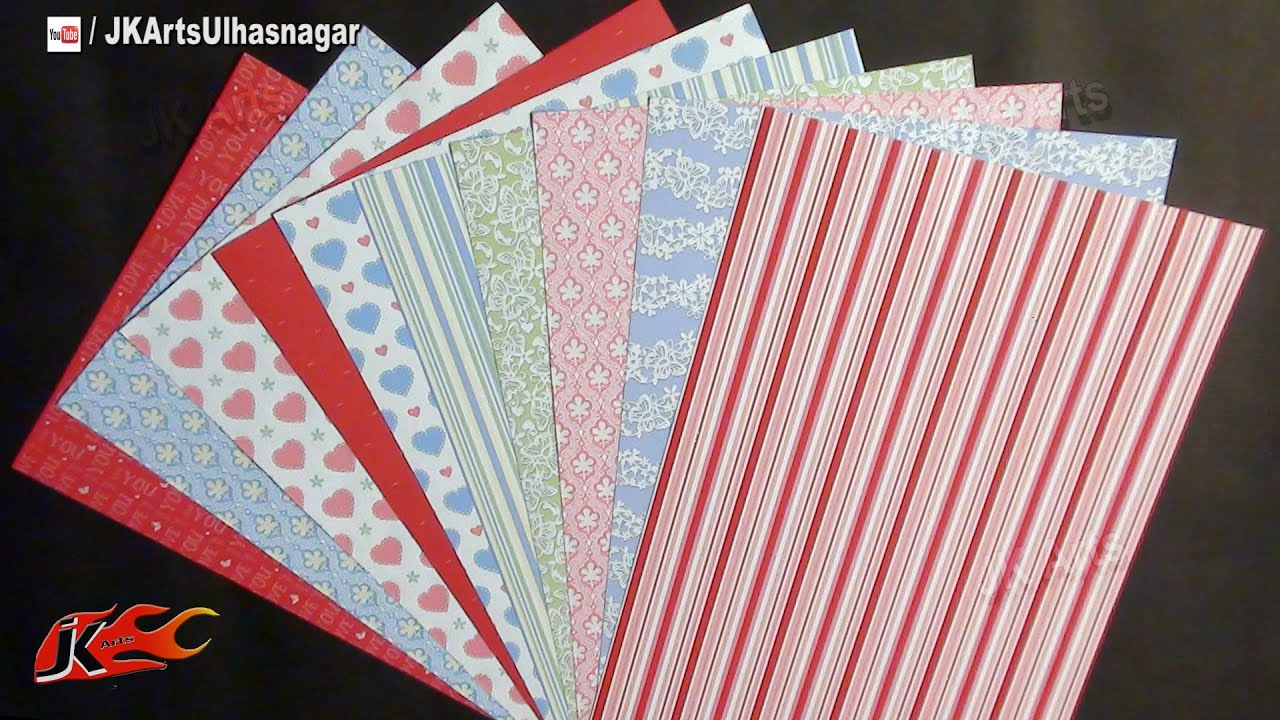 Scrapbook Papers Art And Craft Materials Idea Jk Arts 652 Youtube