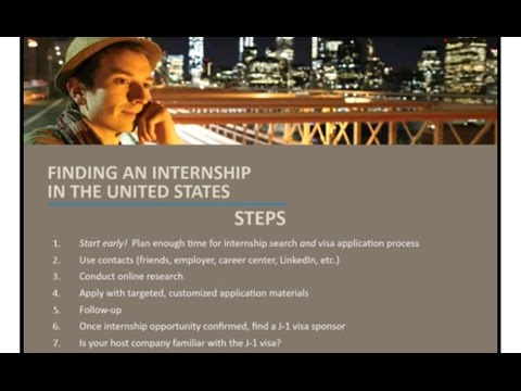 Webinar: Internships in the United States