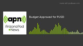 Budget Approved for PUSD