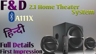 F&D Multimedia Bluetooth Home Theatre A111X Full details@Mehrotra Electronics