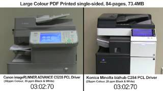 Konica Minolta vs Canon Print Speed