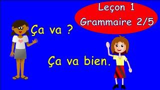 Уроки французского языка 1. Грамматика часть 2. #французскийязык
