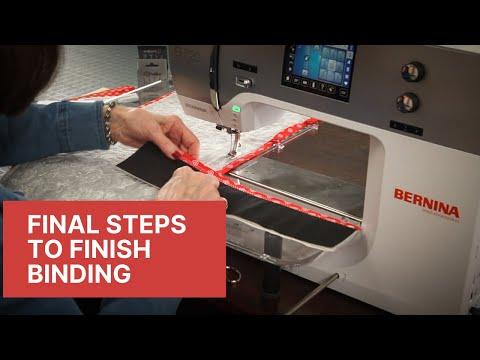 Final Steps to Finish Binding