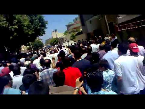Tripoli 30/05/11 Funeral in Soug Al Jumaa Area turned into Mass Anti Regime Protest