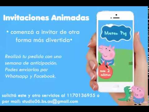 Video Invitacion De George Peppa Pig Tarjeta Virtual Invitacion Animada Con Musica