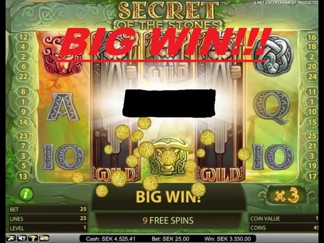 Secret of the Stones wild reels + multipliers = BIG WIN!