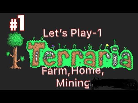 Terraria Let's Play- NCP Homes, Mining, Farming