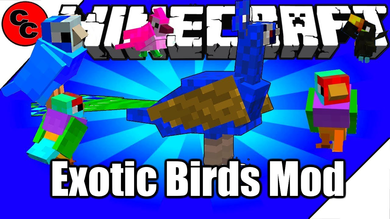 Minecraft Mods Exotic Birds Mod 1 12 2 Youtube