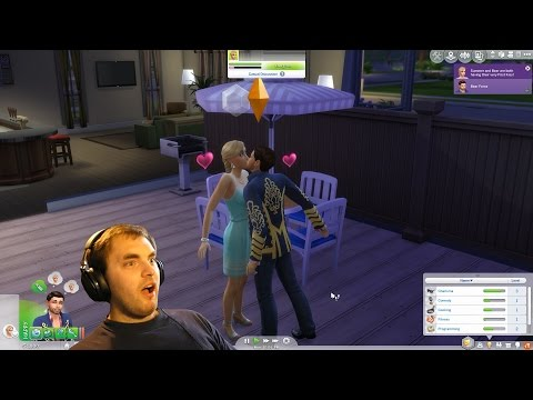 Sims 4 #4 My first kiss and romance!!! |