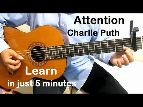 Charlie Puth Attention Guitar Tutorial - Guitar Lessons for Beginners