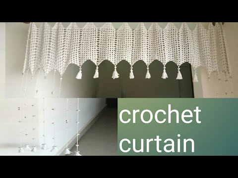 How to make easy Crochet ripple granny curtain