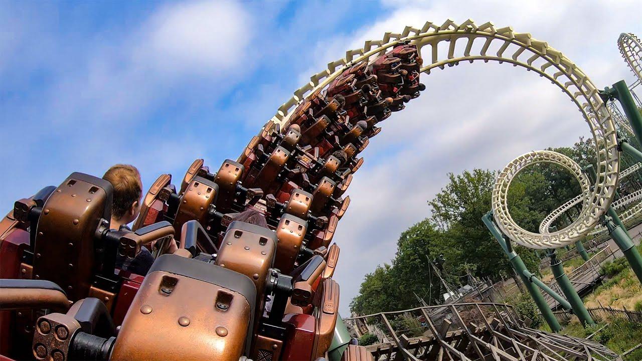 Python Roller Coaster Back Seat POV - Efteling