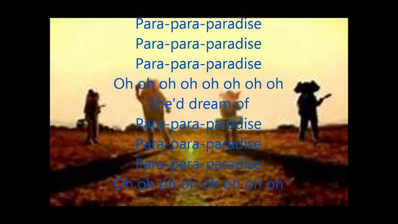 Para paradise lyrics coldplay