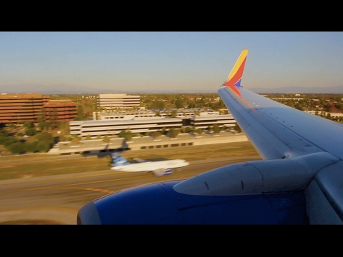 Southwest Flight WN 6066 (OAK-LGB) Landing in Long Beach (N7