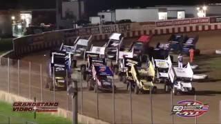 Angell Park Speedway IRA/MOWA Sprint Car Highlights