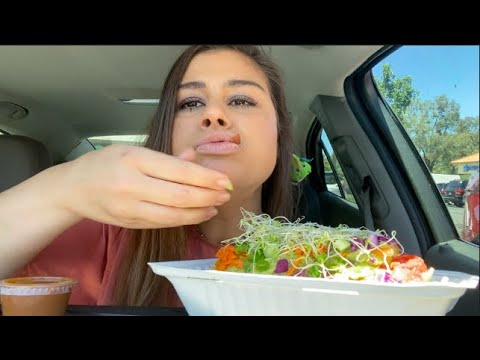 SweetieSnacker goes vegan for a meal, eating the most amazing vegan nachos ever mukbang