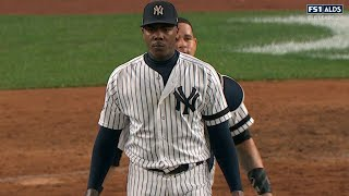 CLE@NYY Gm3: Chapman fans four, earns save in win