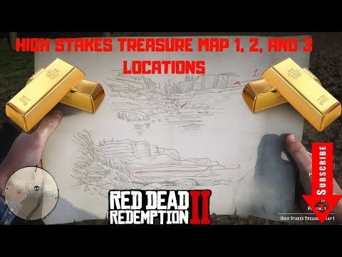 High Stakes Treasure Map 1, 2, and 3 Locations - Red Dead Redemption 2