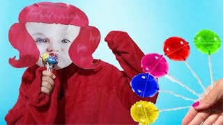 Funny Toddler Learn Colors with Lollipop Finger Family Song For Children