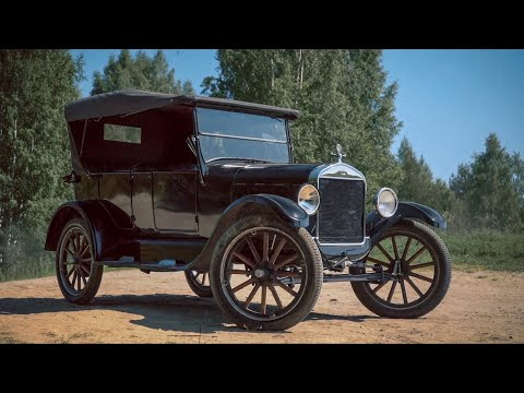 Ему 95 лет и он всё ещё на работе. Ford T 1925 года.