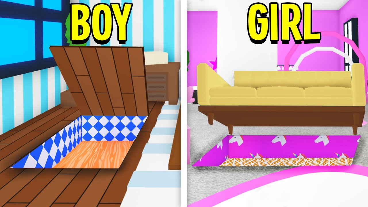 Boy Vs Girl Adopt Me Secret Base Build Off! (Roblox)