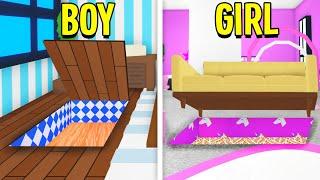 Boy Vs Girl Adopt Me Secret Base Build Off! (Roblox)