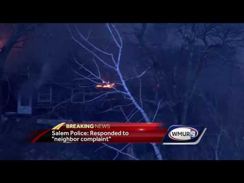 Fire engulfs Salem home after explosion during police situation