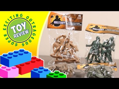 Green Plastic Army Men (Military Figures) - Low Budget Bonanza - Toy Review