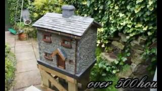 how to make little stone houses for the garden