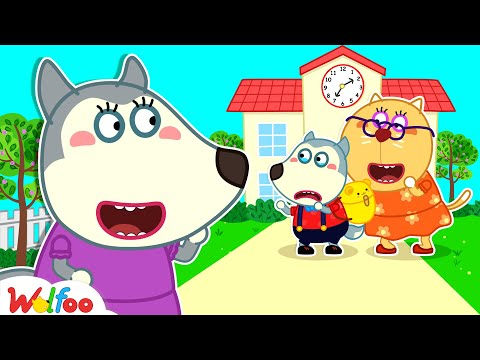 Mommy, Please Come Back! - Wolfoo's First Day of School - Wolfoo Kids Stories | Wolfoo Channel