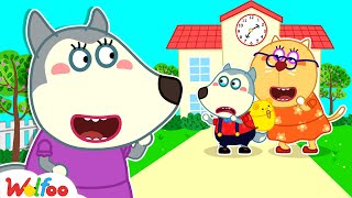 Mommy, Please Come Back! - Wolfoo&#39s First Day of School - Wolfoo Kids Stories  Wolfoo Channel