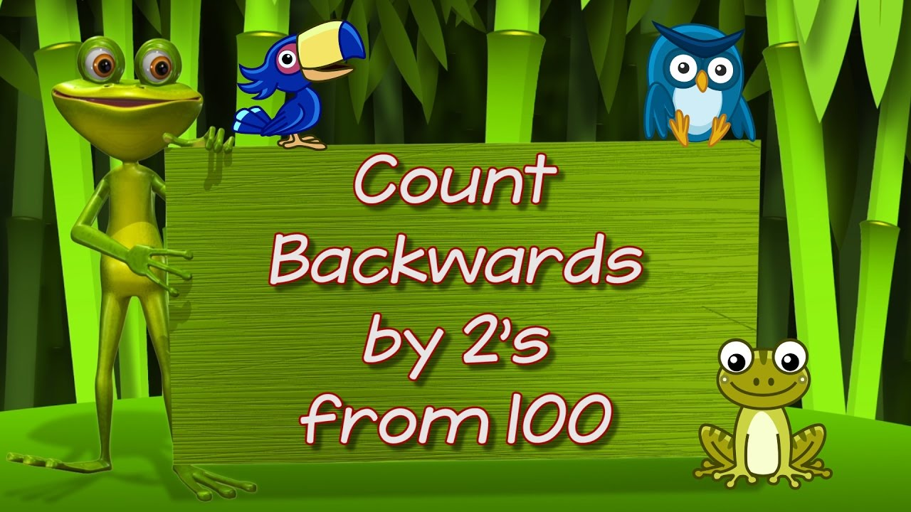 Count Backwards By 2 S From 100 Learn To Count Kids Counting Song Jack Hartmann Youtube