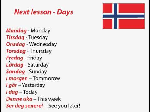 Learn Norwegian online | Free Norwegian lessons