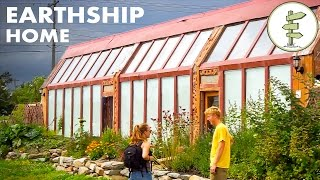 Earthship Home - Young Man