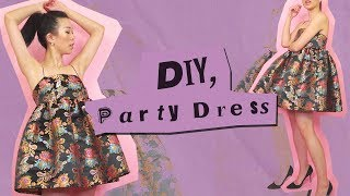 DIY PARTY DRESS ✨Ariana Grande inspired | WITHWENDY