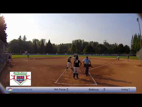 Bellevue Blast vs. Washington Force - 2017 18A Fastpitch National