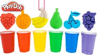 learn colors with play doh modelling clay fruits molds fun and creative for kids rainbowlearning