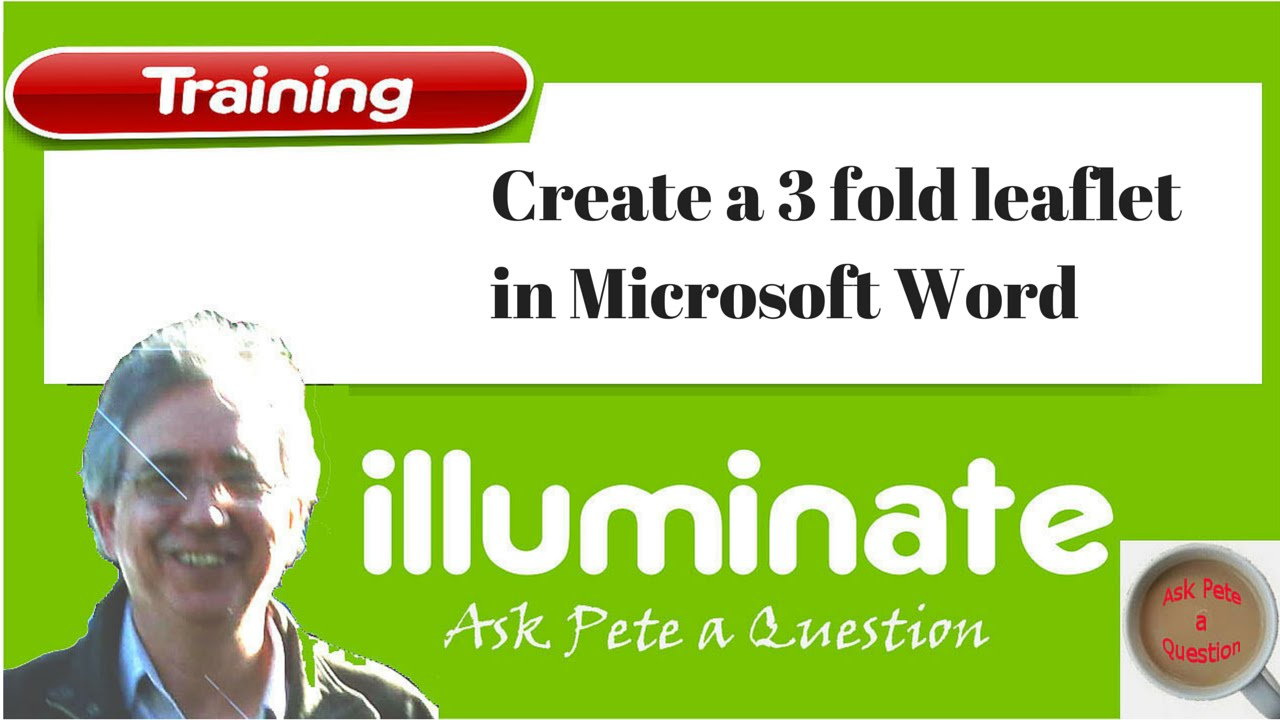 how to create leaflet in word