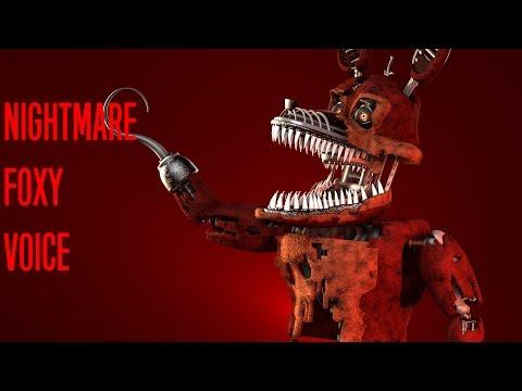 [FNAF SFM] Nightmare Foxy Voice [David Near]