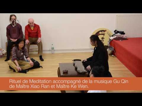 Rituel de méditation avec maître Xiao Ran et son gu gin en compagnie de maître Ke Wen