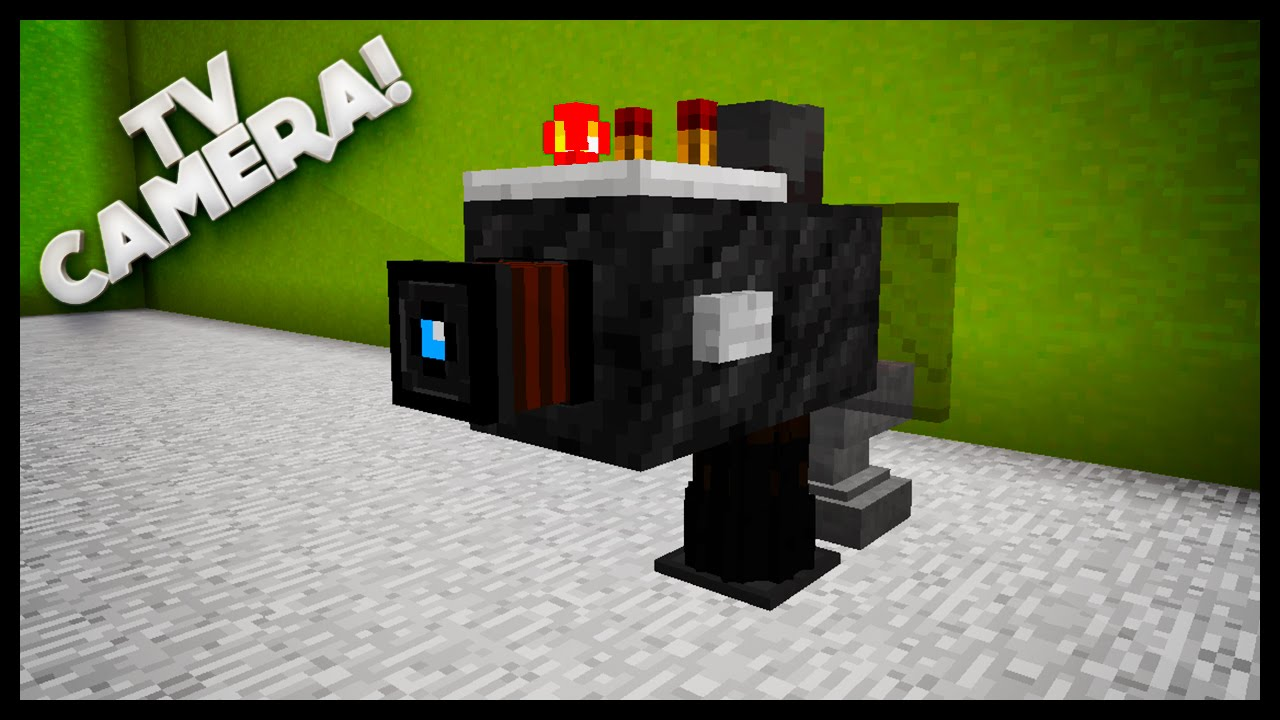 Minecraft how to make a tv camera youtube - Tv in camera ...
