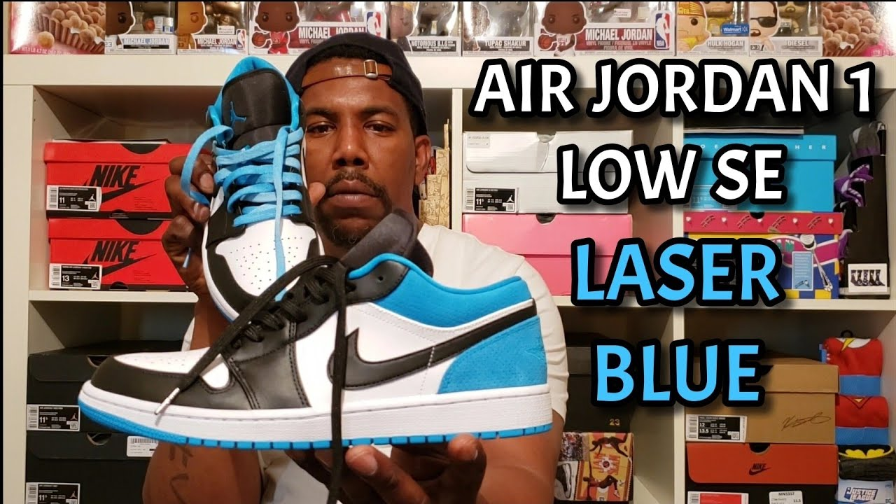 Air Jordan 1 Low Se Laser Blue Review And On Foot Youtube