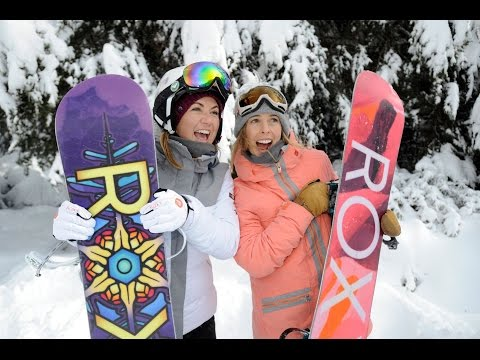 Snowboard with Torah Bright and Tobi Henney