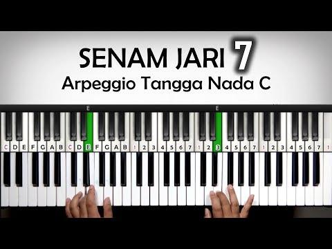 Senam Jari Piano #7 - Arpeggio Tangga Nada C - Sinkronisasi 2 Tangan | Belajar Piano Keyboard