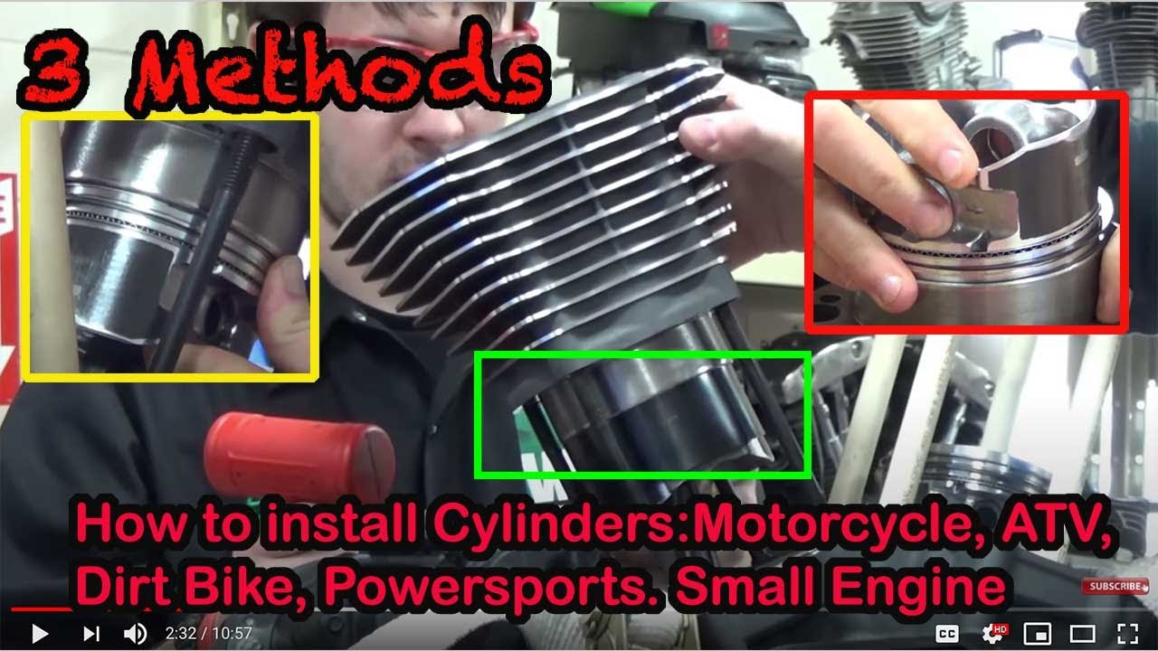 3 Methods Of How To Install Cylinders Found On Motorcycle Atv Sled Harley Engine Drawing Vquad And Method Watercraft Dirt Sport