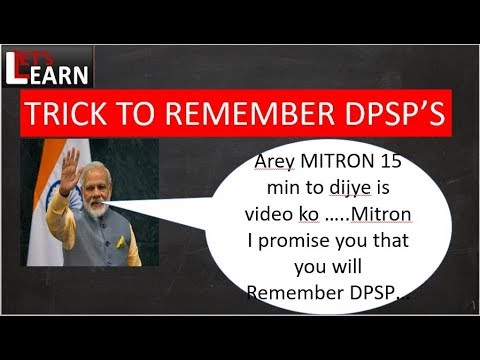 TRICK TO REMEMBER  DPSP'S (Directive Principles of State Policy)  AR. 39A TO 51