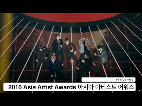 BTS 방탄소년단[4K고정직캠]2016 Asia Artist Awards@Rock Music