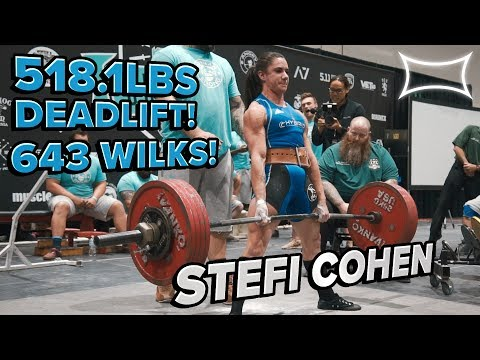 Stefi Cohen All-Time World Record Deadlift @ US Open 2018